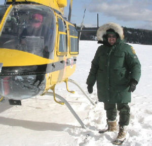 CO Binkley during 2004 Moose Surveys in WMU 36