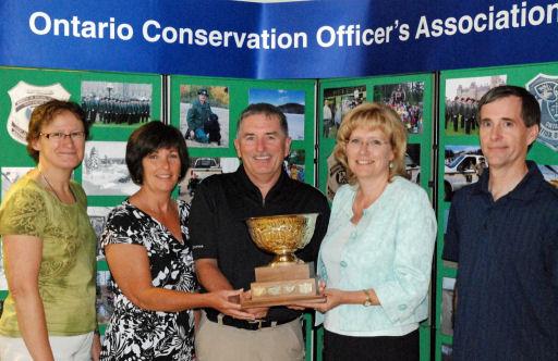 EB Director Lois Deacon, Sue & Bill Clark, Minister of Natural Resources Linda Jeffrey, OCOA President Dan VanExan