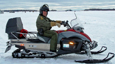CO Bill Clark, Nipissing snowmobile patrol